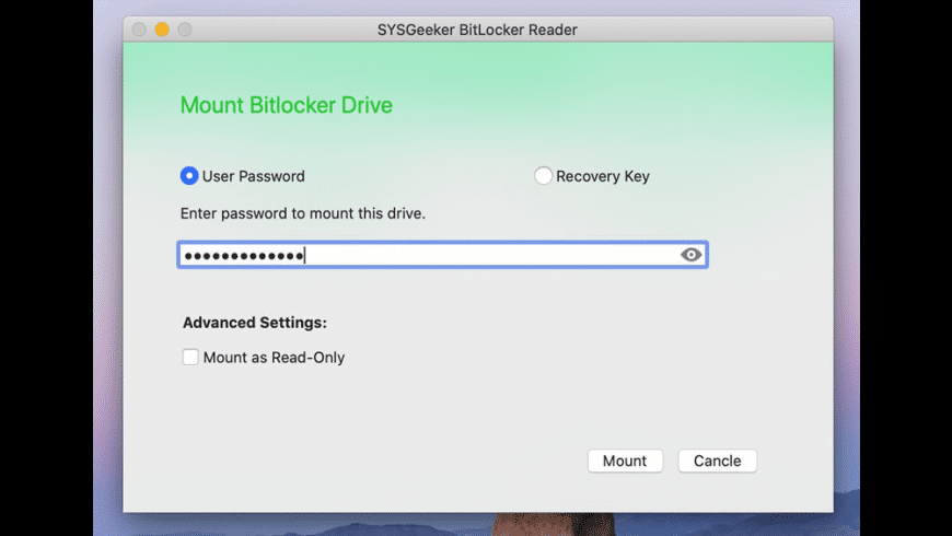 BitLocker Reader for Mac - review, screenshots