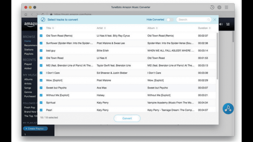 TuneBoto Amazon Music Converter for Mac for Mac - review, screenshots