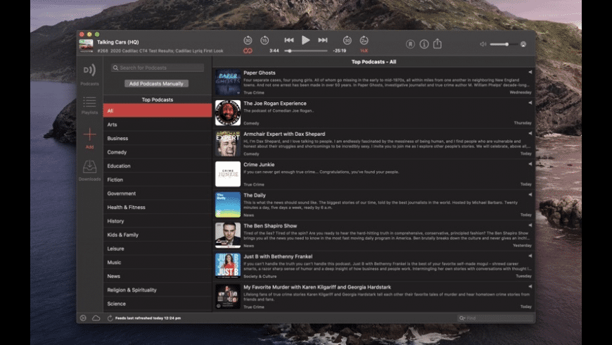 Downcast for Mac - review, screenshots