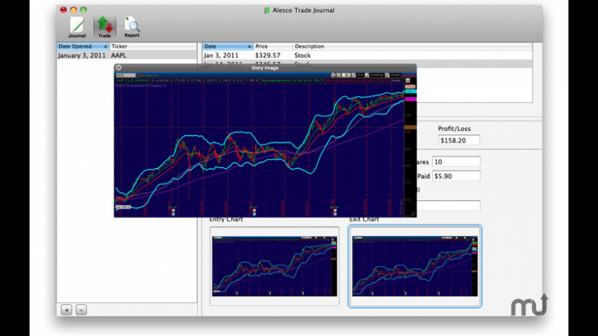 Alesco Trade Journal for Mac - review, screenshots