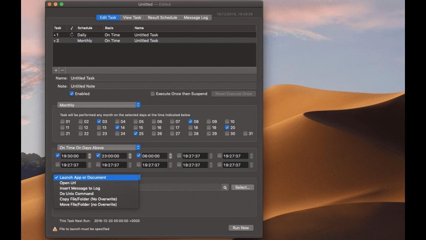 Cronette for Mac - review, screenshots