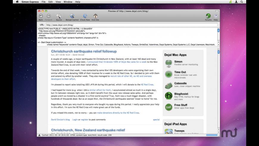 Simon Express for Mac - review, screenshots