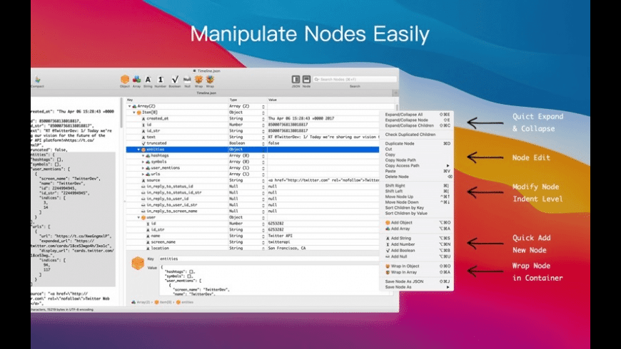 Power JSON Editor for Mac - review, screenshots