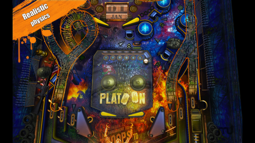 War Pinball HD for Mac - review, screenshots