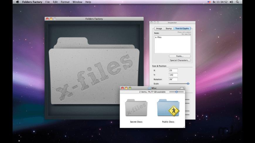 Folders Factory for Mac - review, screenshots