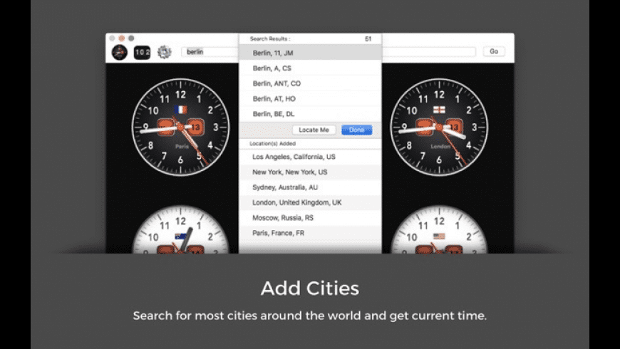 Universal Time for Mac - review, screenshots