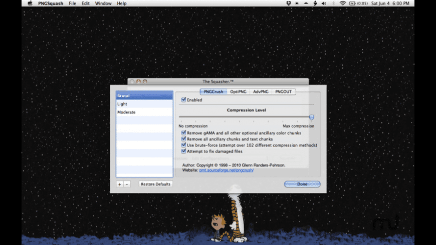 PNGSquash for Mac - review, screenshots