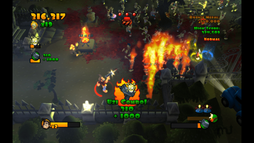 Burn Zombie Burn for Mac - review, screenshots