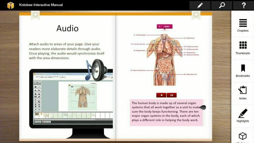 Kotobee Reader for Mac - review, screenshots