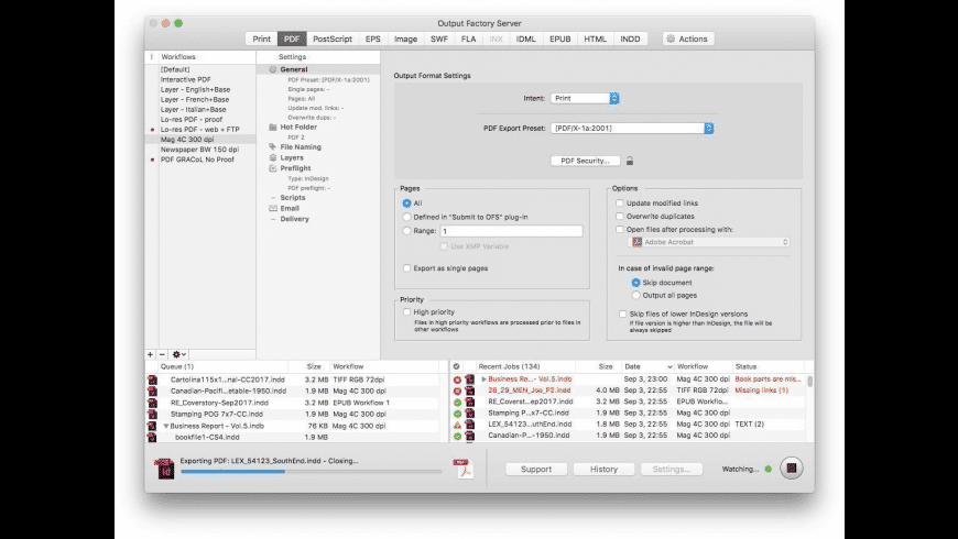 Output Factory Server for Mac - review, screenshots