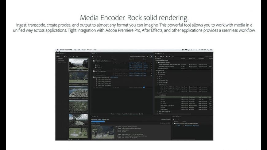 Adobe Media Encoder CC for Mac - review, screenshots