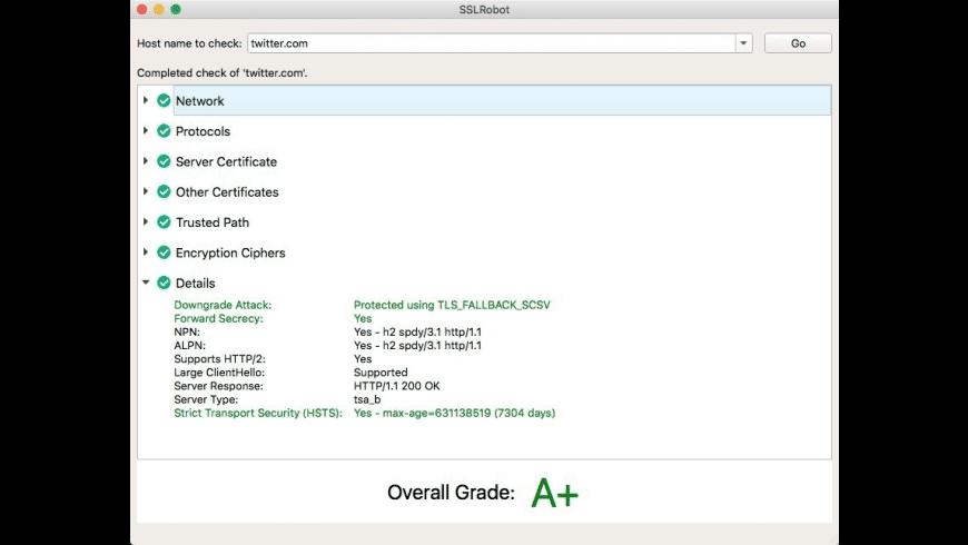 SSLRobot for Mac - review, screenshots