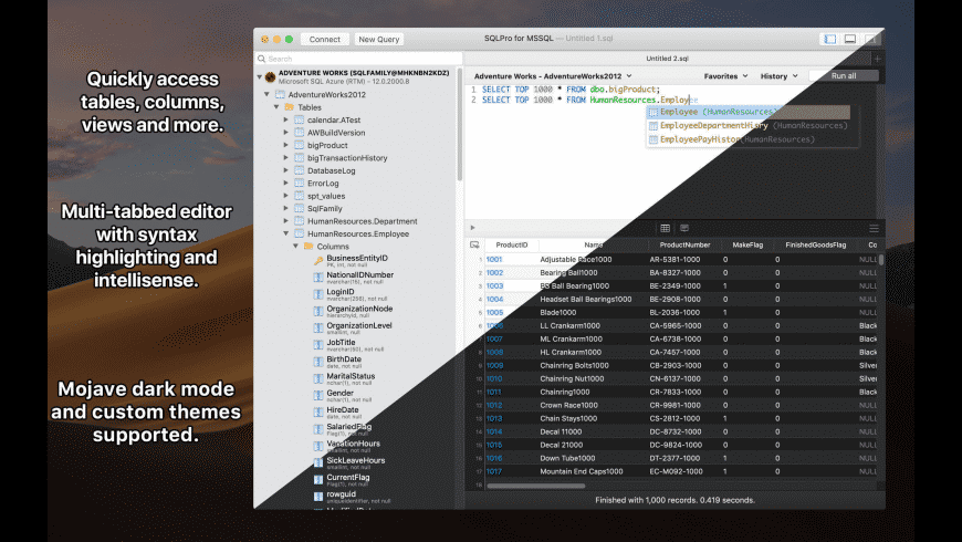 SQLPro for MSSQL for Mac - review, screenshots