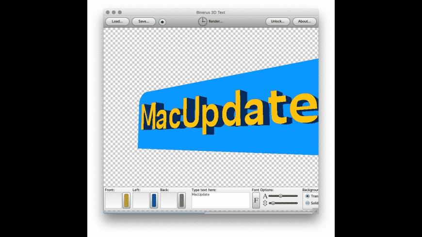 3D Text for Mac - review, screenshots