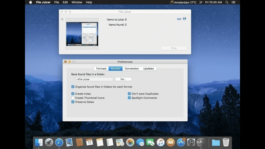 File Juicer for Mac - review, screenshots