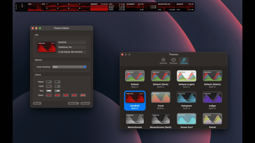 Pluto Stat‪s for Mac - review, screenshots