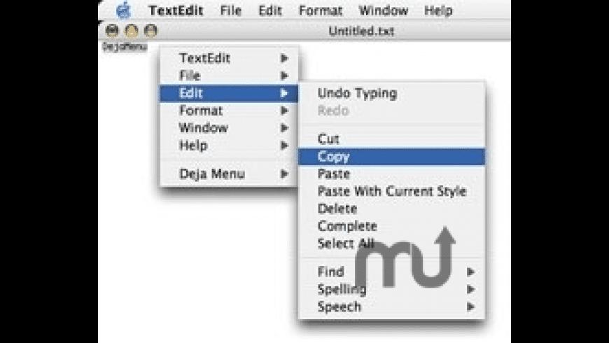 DejaMenu for Mac - review, screenshots