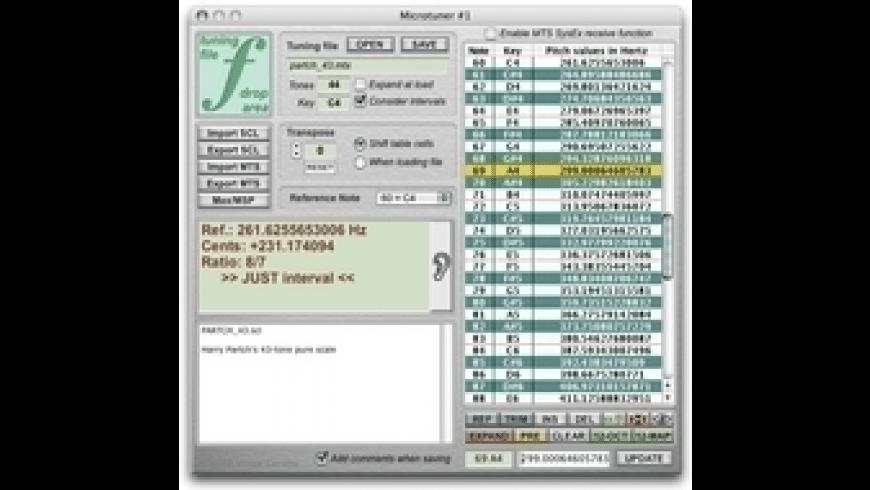 Max Magic Microtuner for Mac - review, screenshots