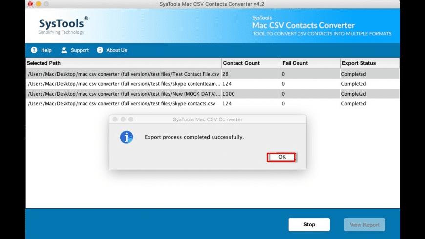 SysTools Mac CSV Contacts Converter for Mac - review, screenshots