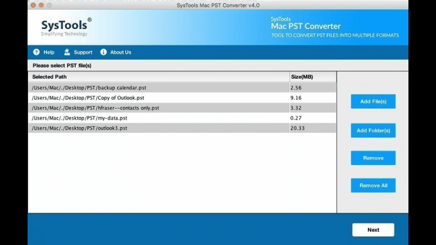 SysTools Mac PST Converter for Mac - review, screenshots