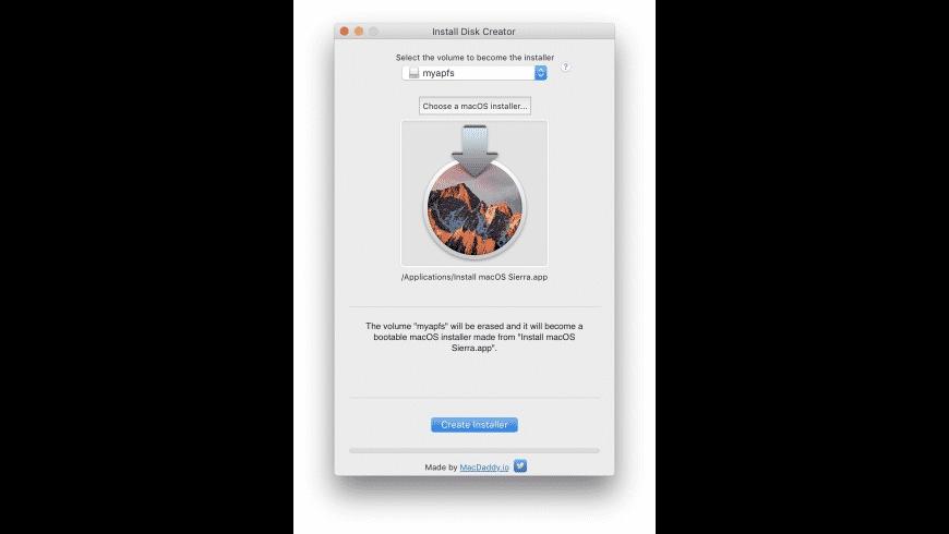 Install Disk Creator for Mac - review, screenshots