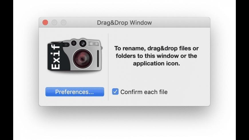ExifRenamer for Mac - review, screenshots