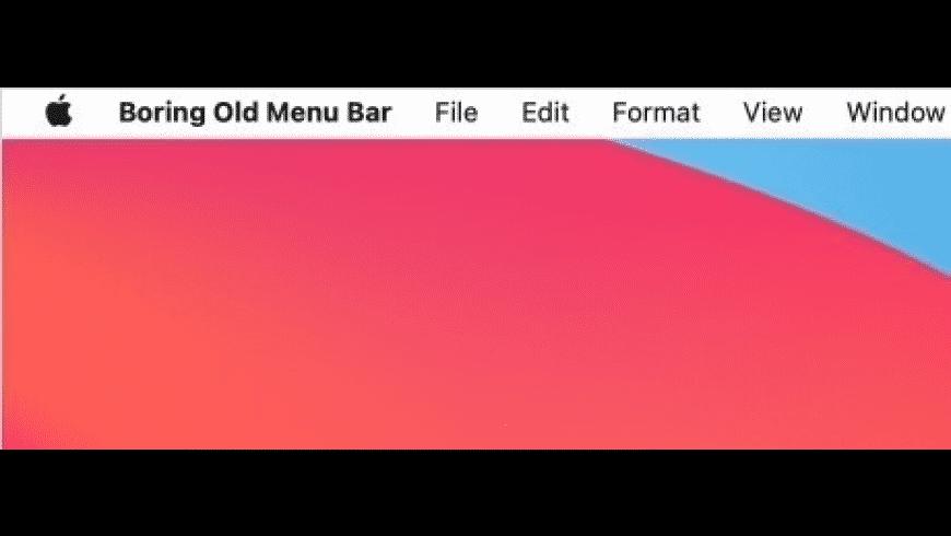 Boring Old Menu Bar for Mac - review, screenshots