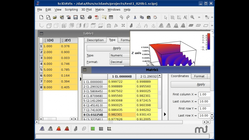 SciDAVis for Mac - review, screenshots
