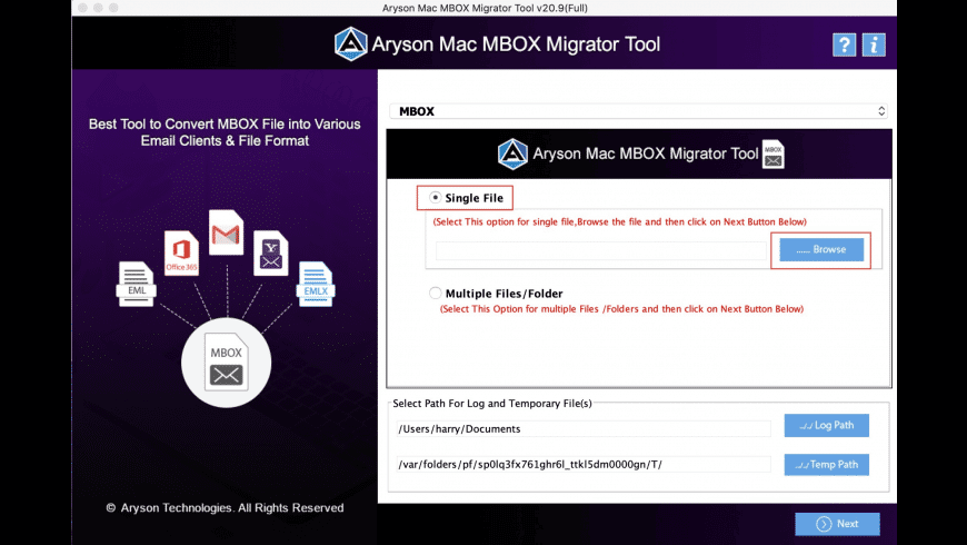 Aryson MBOX Migrator for Mac - review, screenshots