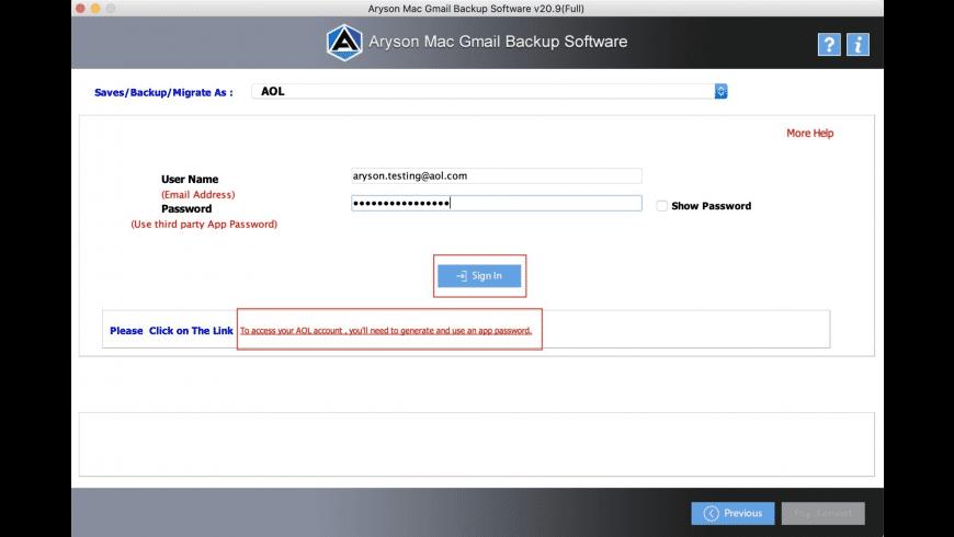 Aryson Gmail Backup Tool for Mac - review, screenshots