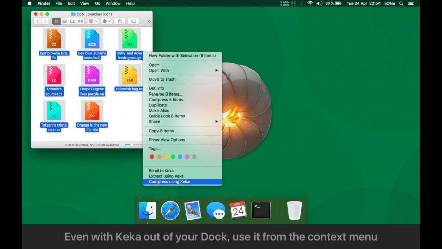 Keka for Mac - review, screenshots