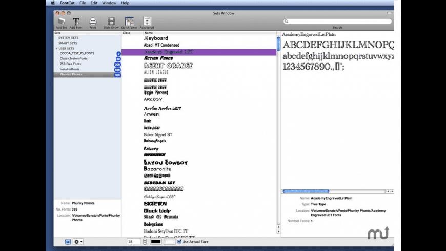 FontCat for Mac - review, screenshots