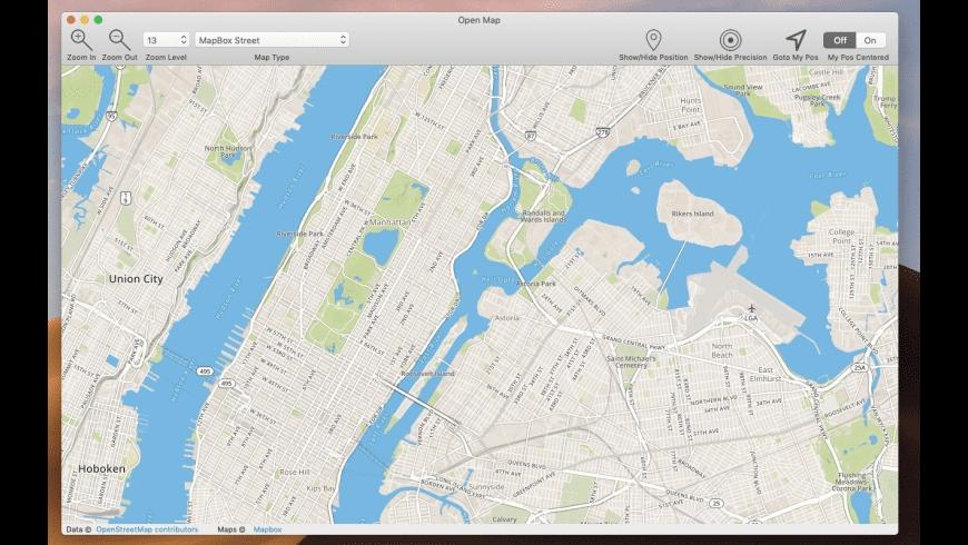 Open Map for Mac - review, screenshots
