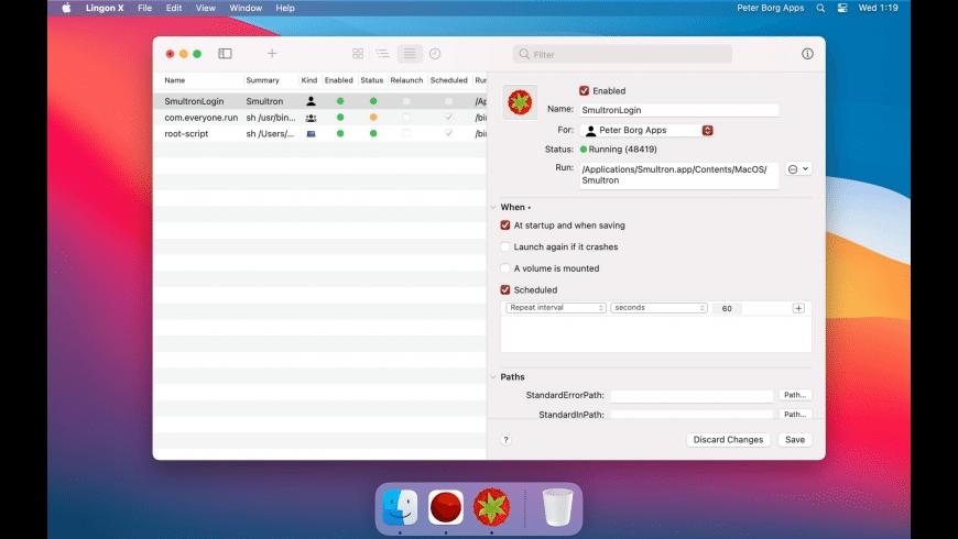 Lingon X for Mac - review, screenshots
