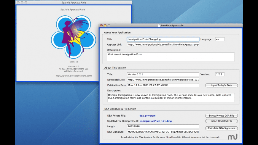 Sparkle Appcast Pixie for Mac - review, screenshots