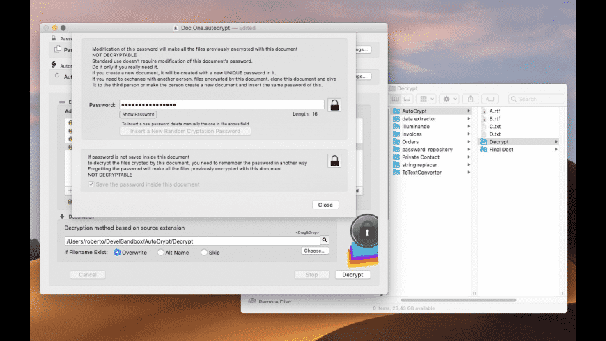 AutoCrypt for Mac - review, screenshots