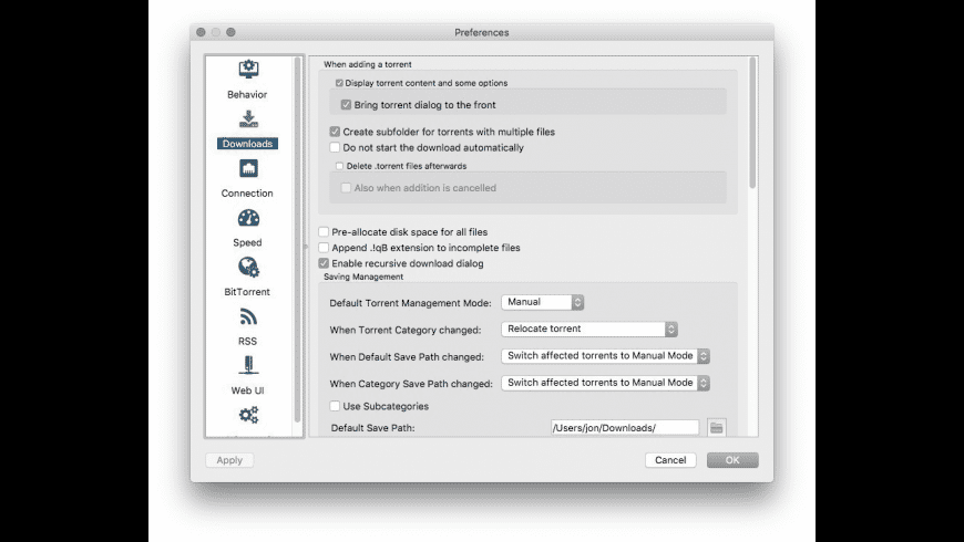 qBitTorrent for Mac - review, screenshots