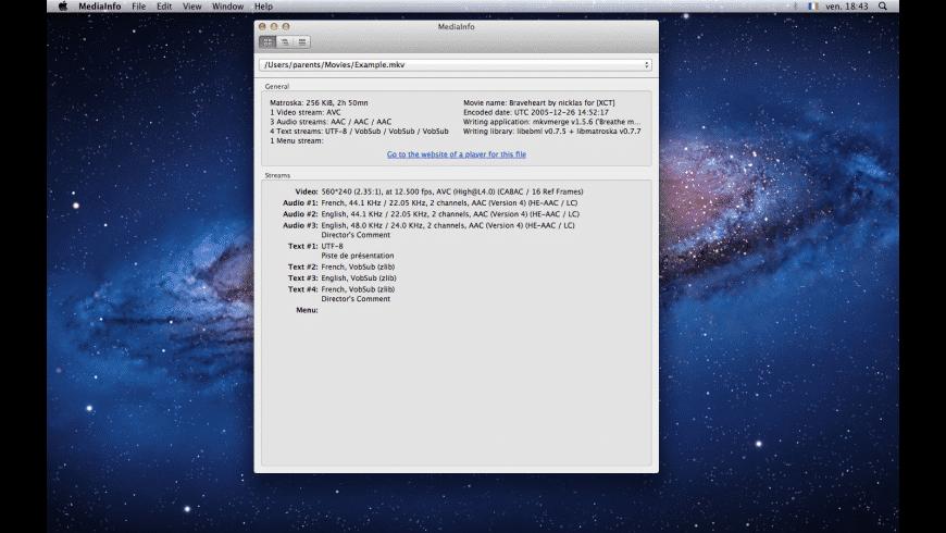 MediaInfo for Mac - review, screenshots