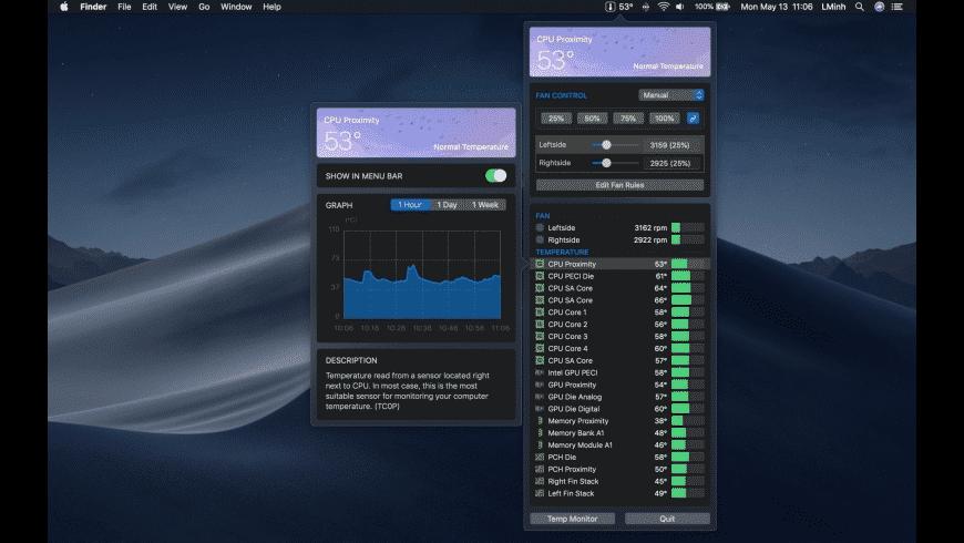 Temp Monitor for Mac - review, screenshots