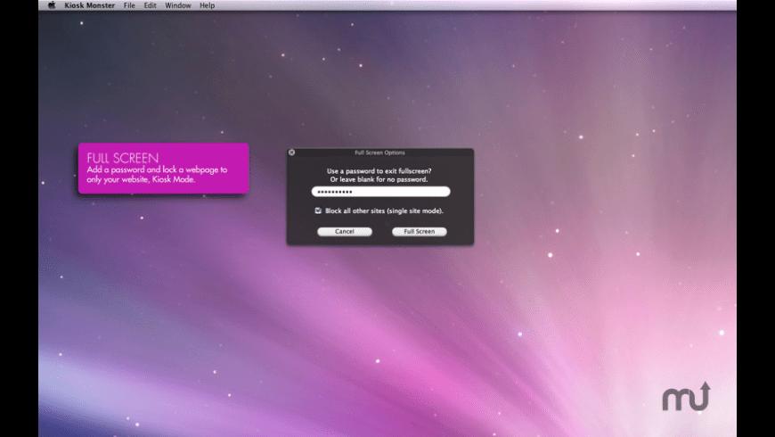 Kiosk Monster for Mac - review, screenshots