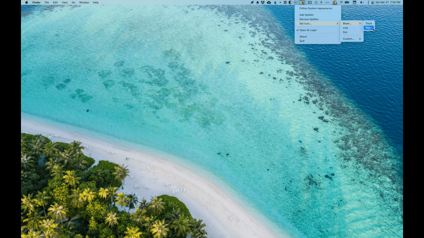 Menu Bar Splitter for Mac - review, screenshots