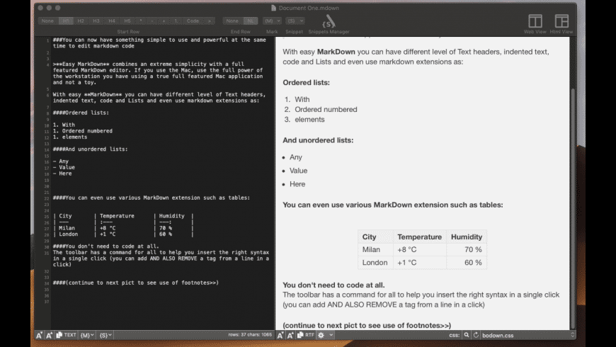 Easy Markdown for Mac - review, screenshots