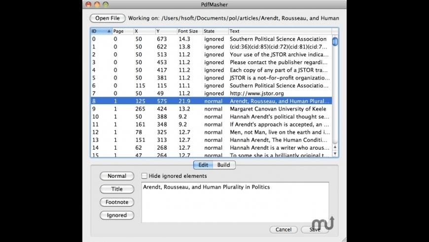PDFMasher for Mac - review, screenshots
