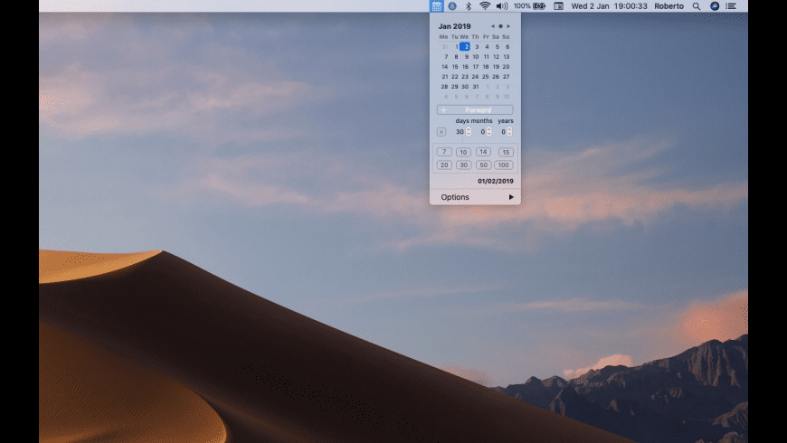 Menu Calendar for Mac - review, screenshots