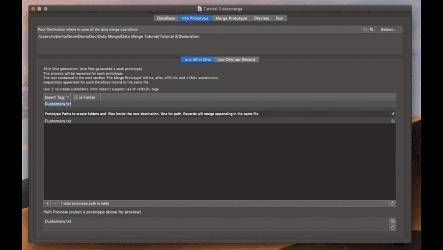 Data Merge for Mac - review, screenshots