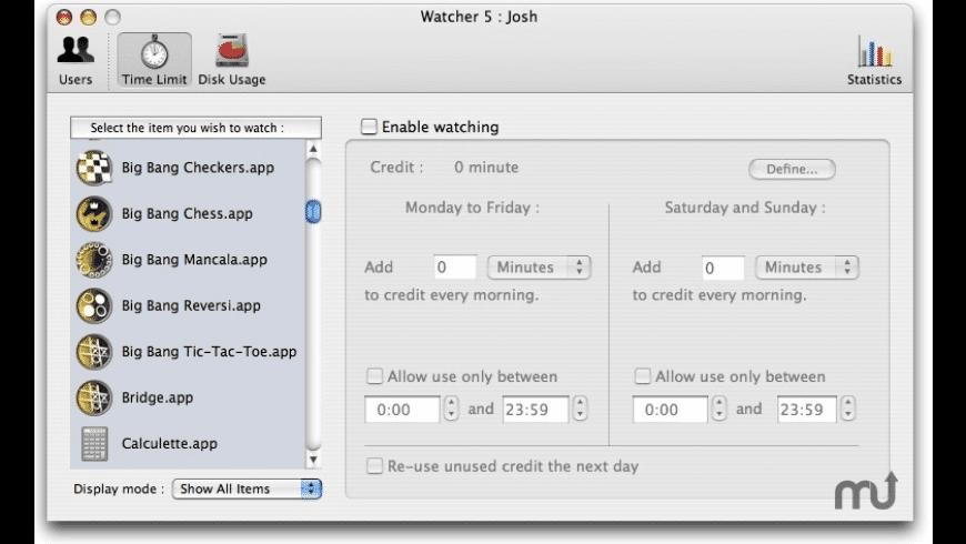 Watcher for Mac - review, screenshots