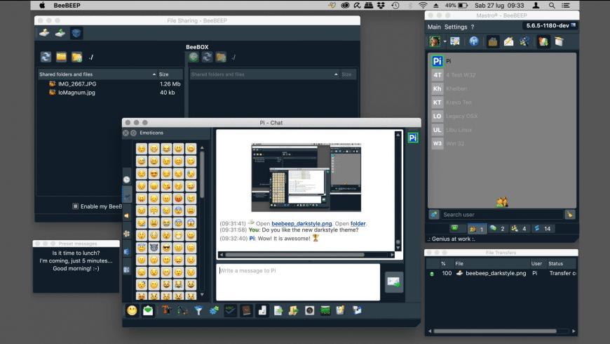 BeeBEEP for Mac - review, screenshots