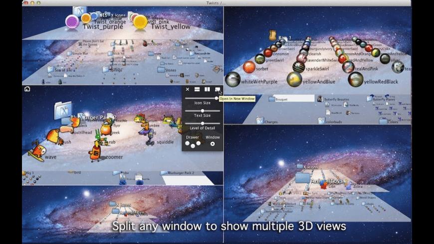 3D fileSpace for Mac - review, screenshots