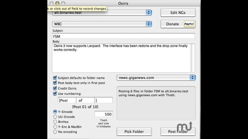 Osiris for Mac - review, screenshots