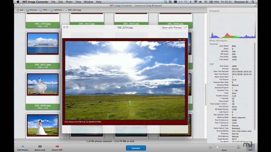 IMT Image Converter for Mac - review, screenshots